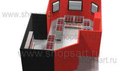 Дизайн интерьера ювелирного магазина Сапфир коллекция КОРАЛЛ Дизайн 19