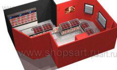 Дизайн интерьера ювелирного магазина Сапфир коллекция КОРАЛЛ Дизайн 20