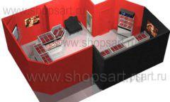 Дизайн интерьера ювелирного магазина Сапфир коллекция КОРАЛЛ Дизайн 21