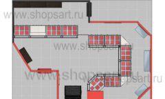 Дизайн интерьера ювелирного магазина Сапфир коллекция КОРАЛЛ Дизайн 23
