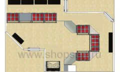 Дизайн интерьера ювелирного магазина Сапфир коллекция КОРАЛЛ Дизайн 24