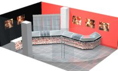 Дизайн интерьера 2 ювелирного магазина Сапфир коллекция КОРАЛЛ Дизайн 01