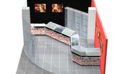 Дизайн интерьера 2 ювелирного магазина Сапфир коллекция КОРАЛЛ Дизайн 03
