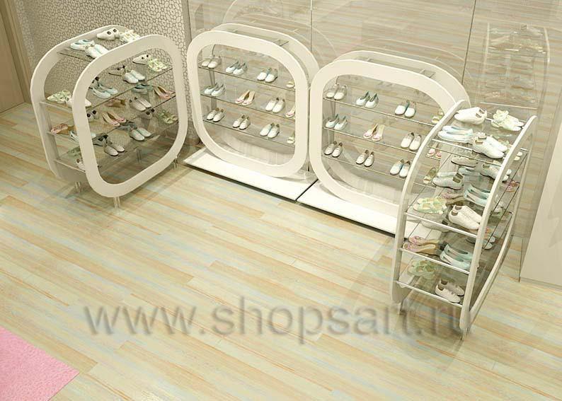 Торговое оборудование отдела обуви магазина Винни ТЦ Dream House Дизайн