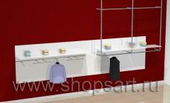 Настенная панель для одежды.