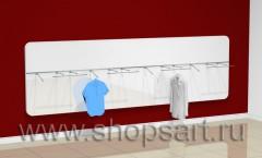 Настенная панель для одежды, горизонтальная.