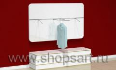 Настенная панель для одежды с радиусными углами и накопителем.