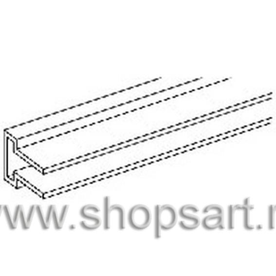Профиль алюминиевый горизонтальный для крепления кронштейнов.