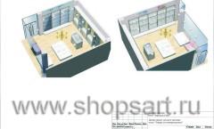 Дизайн-проект детского магазина отдел Товары для новорожденных