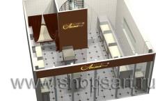 Визуализация ювелирного магазина на основе коллекции Элит Голд