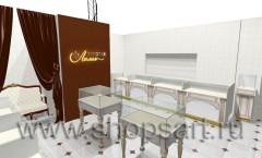 Визуализация ювелирного магазина Золотая Лилия Москва