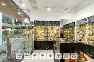 3D-панорама магазина авторской бижутерии на основе коллекции Розовый букет