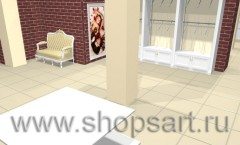 Визуализация магазина одежды на основе коллекции Белая классика