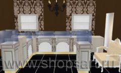 Дизайн интерьера ювелирного магазина Нефрит коллекция ЭЛИТ ГОЛД Дизайн 1