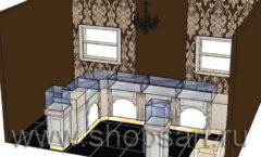 Дизайн интерьера ювелирного магазина Нефрит коллекция ЭЛИТ ГОЛД Дизайн 2