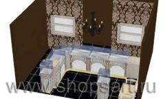 Дизайн интерьера ювелирного магазина Нефрит коллекция ЭЛИТ ГОЛД Дизайн 3