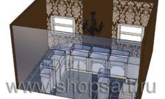 Дизайн интерьера ювелирного магазина Нефрит коллекция ЭЛИТ ГОЛД Дизайн 4