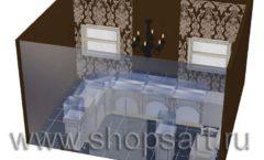 Дизайн интерьера ювелирного магазина Нефрит коллекция ЭЛИТ ГОЛД Дизайн 5