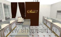 Дизайн интерьера ювелирного магазина Золотая Лилия коллекция ЭЛИТ ГОЛД Дизайн 01