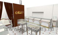 Дизайн интерьера ювелирного магазина Золотая Лилия коллекция ЭЛИТ ГОЛД Дизайн 02