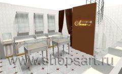 Дизайн интерьера ювелирного магазина Золотая Лилия коллекция ЭЛИТ ГОЛД Дизайн 03