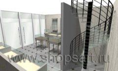 Дизайн интерьера ювелирного магазина Золотая Лилия коллекция ЭЛИТ ГОЛД Дизайн 05
