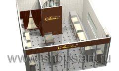 Дизайн интерьера ювелирного магазина Золотая Лилия коллекция ЭЛИТ ГОЛД Дизайн 06