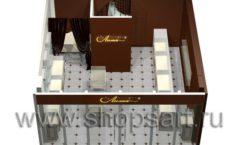 Дизайн интерьера ювелирного магазина Золотая Лилия коллекция ЭЛИТ ГОЛД Дизайн 07