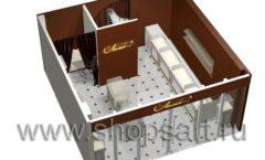 Дизайн интерьера ювелирного магазина Золотая Лилия коллекция ЭЛИТ ГОЛД Дизайн 08