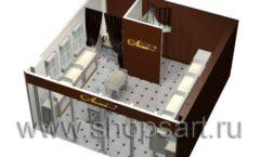 Дизайн интерьера ювелирного магазина Золотая Лилия коллекция ЭЛИТ ГОЛД Дизайн 09