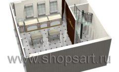Дизайн интерьера ювелирного магазина Золотая Лилия коллекция ЭЛИТ ГОЛД Дизайн 10