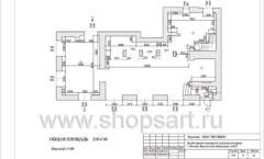 Дизайн проект ювелирного магазина Октябрь Москва Фрунзенская набережная Лист 04