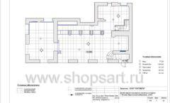 Дизайн проект ювелирного магазина Октябрь Москва Фрунзенская набережная Лист 07