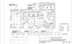 Дизайн проект ювелирного магазина Октябрь Москва Фрунзенская набережная Лист 09