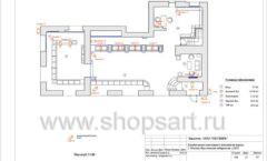 Дизайн проект ювелирного магазина Октябрь Москва Фрунзенская набережная Лист 17