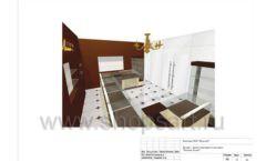 Дизайн проект ювелирного магазина Золотая Лилия Москва торговое оборудование КОРИЧНЕВАЯ КЛАССИКА Лист 12