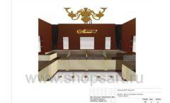 Дизайн проект ювелирного магазина Золотая Лилия Москва торговое оборудование КОРИЧНЕВАЯ КЛАССИКА Лист 16