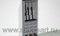 Шкаф для выкладки оружия аксессуаров ОХОТА И РЫБАЛКА
