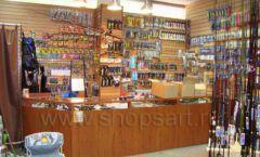 Торговое оборудование ОХОТА И РЫБАЛКА рыболовного магазина Правильные снасти Фото 03