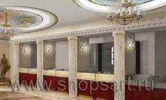 Визуализация дизайн проекта ювелирного магазина Октябрь Фрунзенская набережная Дизайн 01