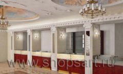 Визуализация дизайн проекта ювелирного магазина Октябрь Фрунзенская набережная Дизайн 02