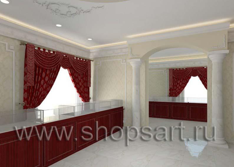 831e871c86a2 Визуализация дизайн проекта ювелирного магазина Октябрь | ShopsArt.ru