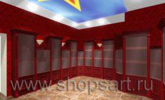 Визуализация дизайн проекта ювелирного магазина Октябрь Фрунзенская набережная Дизайн 14