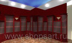 Визуализация дизайн проекта ювелирного магазина Октябрь Фрунзенская набережная Дизайн 15