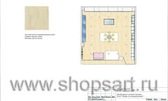 Дизайн-проект детского магазина отдел Товары для новорождённых