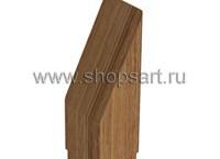 038. Элемент декоративный, из массива дерева. Устанавливается в верхней части стойки и служит заглушкой стойки.