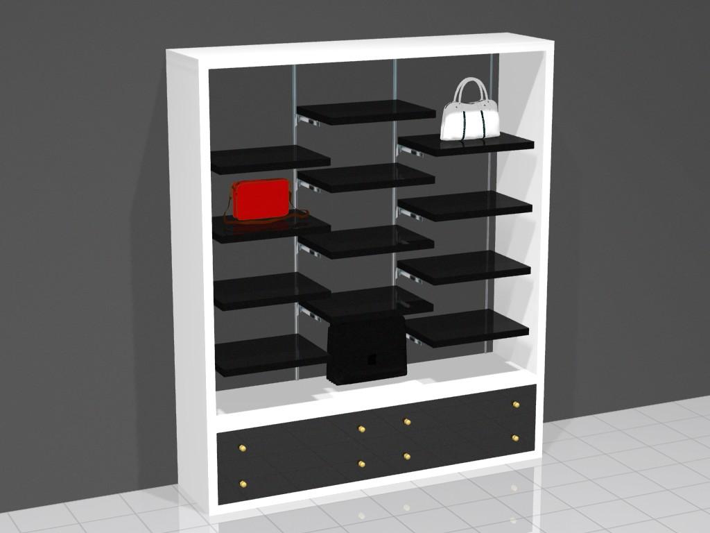 Торговая мебель для магазина сумок БРЕНД