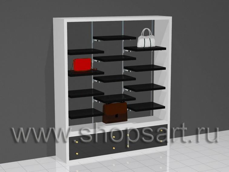 002 СУ. Шкаф для сумок открытый, с полками.