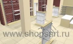 Визуализация магазина одежды 2 ХАЙ ТЕК