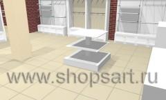 Визуализация магазина одежды на основе коллекции Хай-Тек